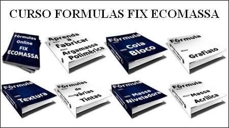 Curso formulas fix ecomassa. Formula de tinta e grafiato