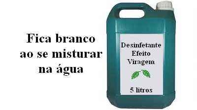 Fórmula Desinfetante de pinho transparente efeito viragem